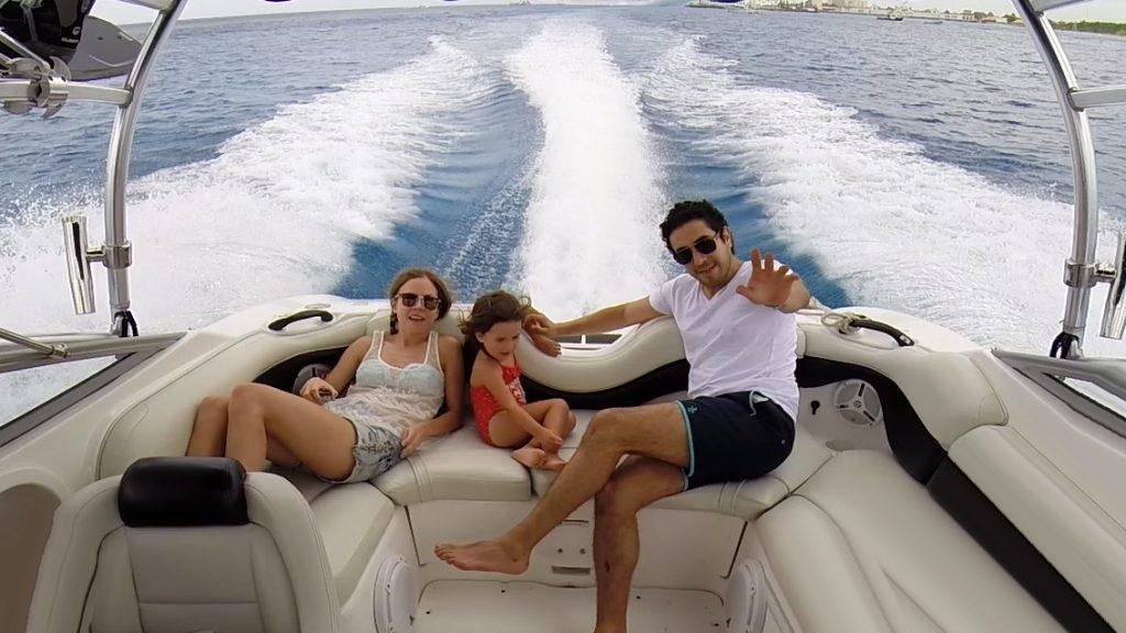 Cozumel Boating Family