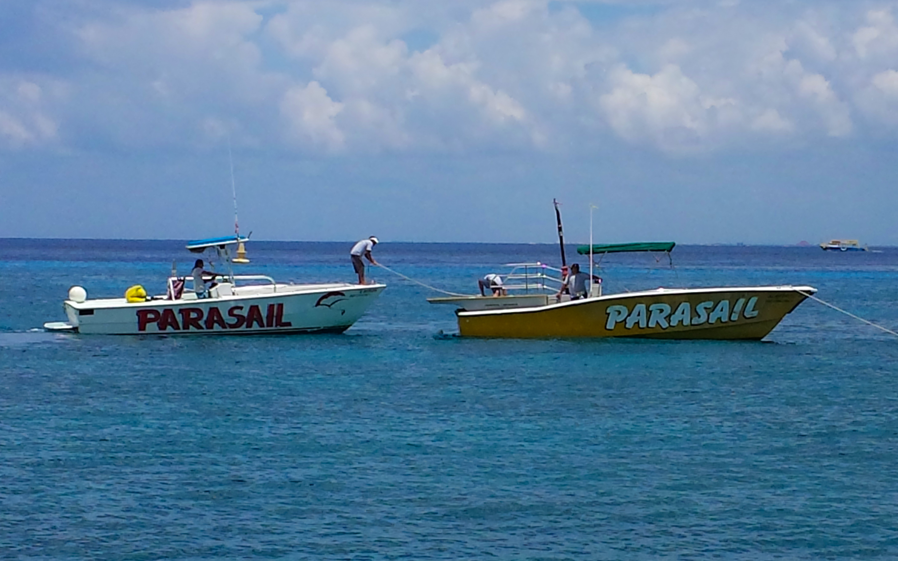 Cozumle Parasailing Boats Cozumel Cruise Excursions