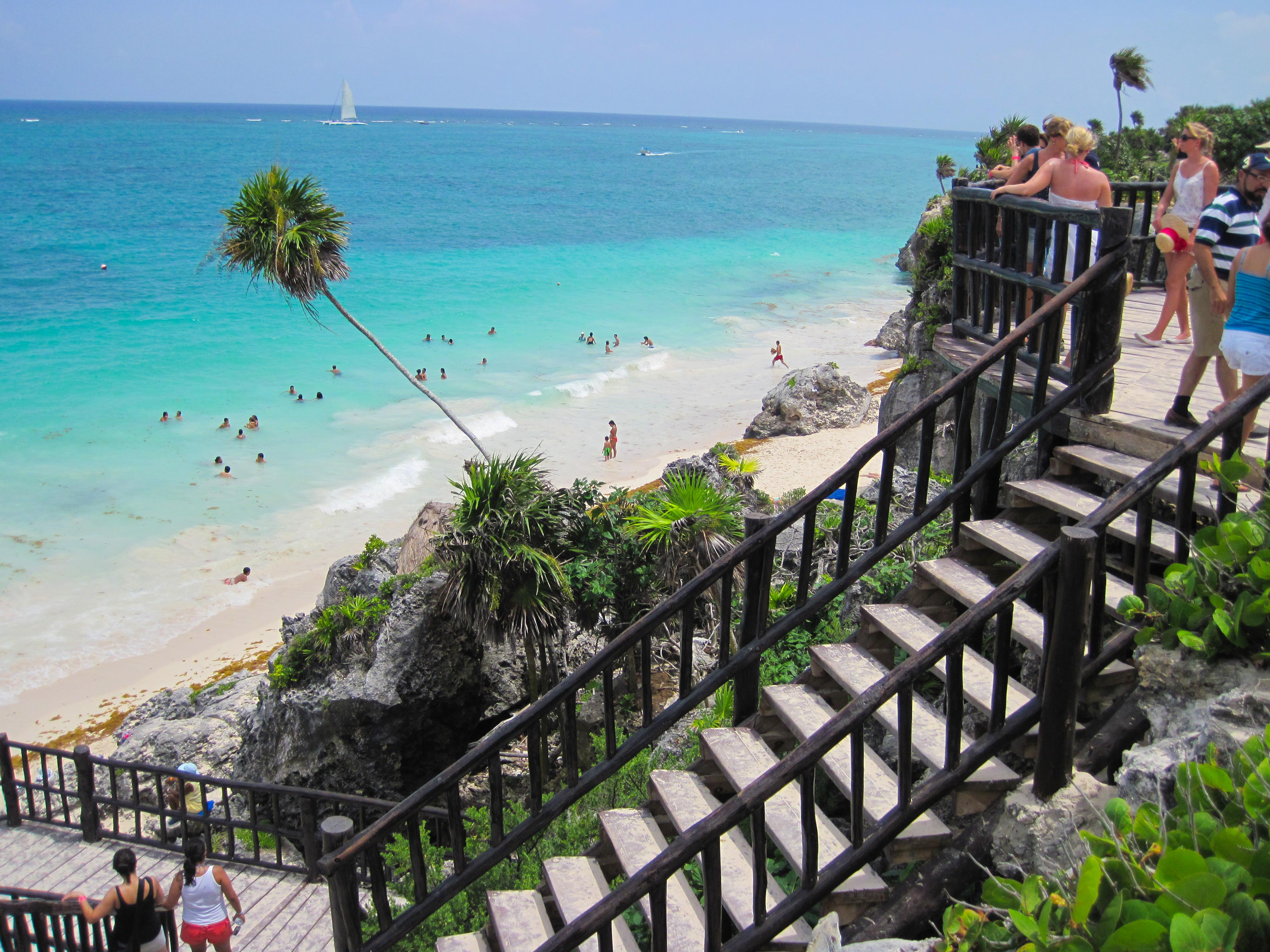 Stairs To Tulum Beach Cozumel Cruise Excursions