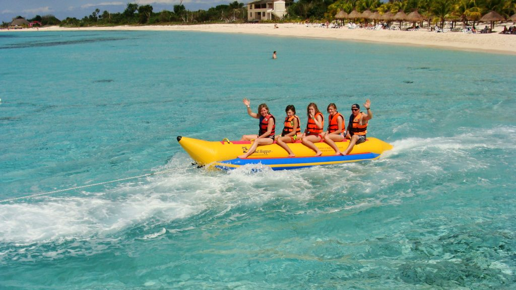 banana boat rides Nachi Beach Break Cozumel
